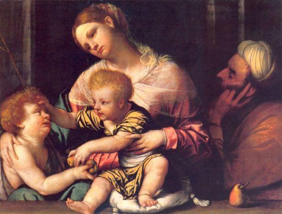 Alessandro Bonvicino, detto il Moretto, Sacra Famiglia con San Giovannino, c. 1535, Milano, Museo Poldi Pezzoli, olio su tela
