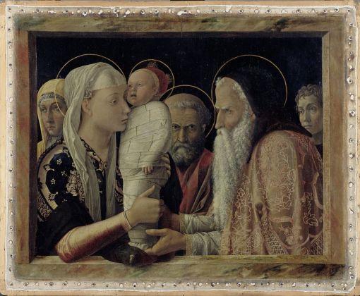 Andrea Mantegna Presentazione al Tempio, 1454. Gemäldegalerie, Berlino