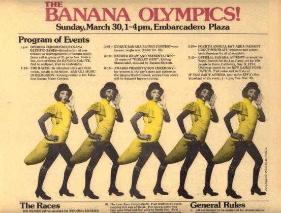 Anna Banana, Banana Olympics, programme of events, documentation