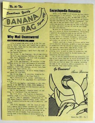 Anna Banana, Banana Rag, 1981