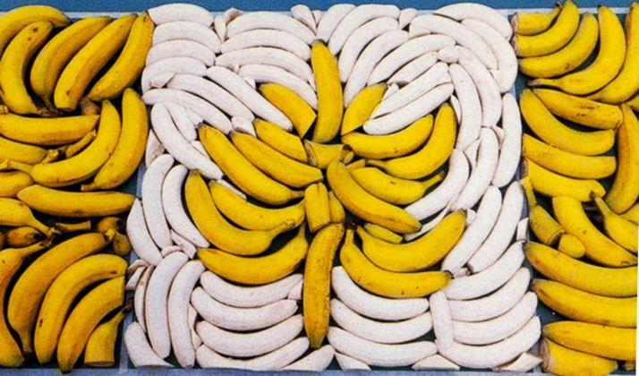 Anna Banana, Canadian Flag in Bananas, 1982 (for CKVU TV show)