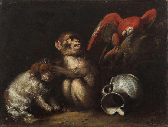 Anton Maria Vassallo, Allegoria con cagnolino, collezione privata