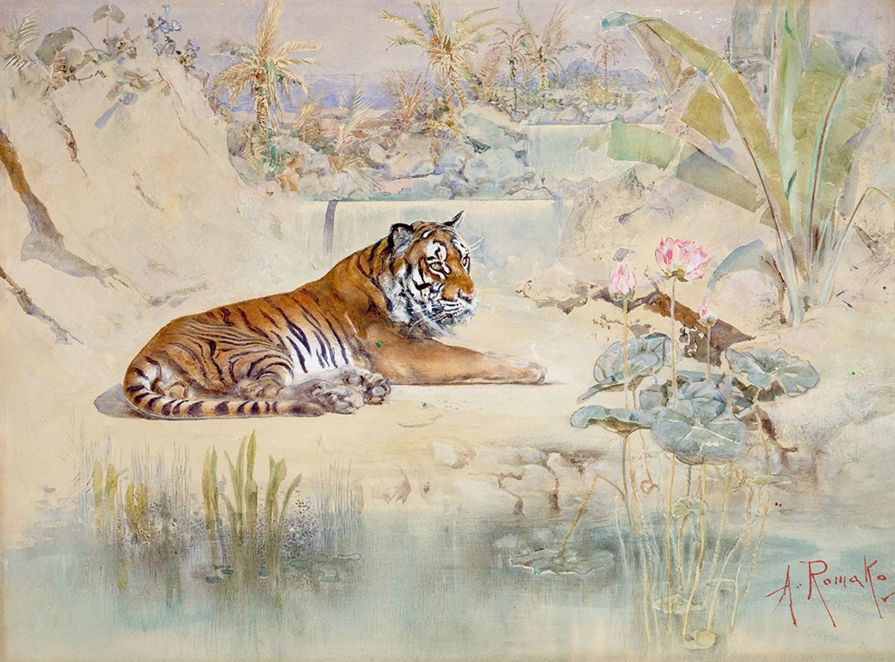 Anton Romako, Tigre, 1870. Albertina Museum, Vienna