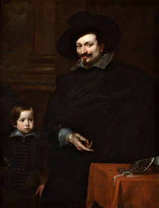 Anton van Dyck, Il gioielliere Giacomo Pucci col figlio Alberto, 1627 ca. Genova, Musei di Strada Nuova, Palazzo Rosso