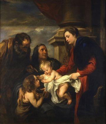 Anton van Dyck, Sacra Famiglia con san Giovannino e sant'Elisabetta, Torino, Galleria Sabauda