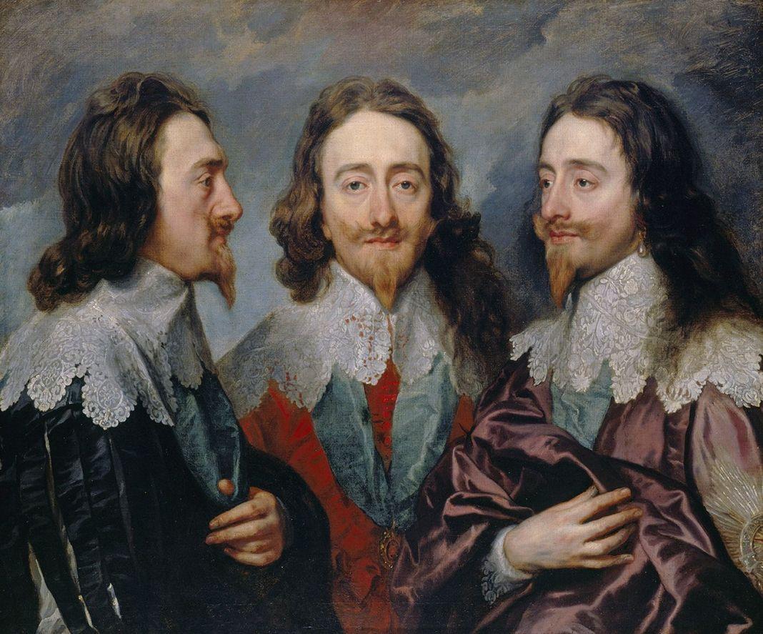 Antoon van Dyck, Carlo I, 1635-36. Hampton Court, Royal Collection