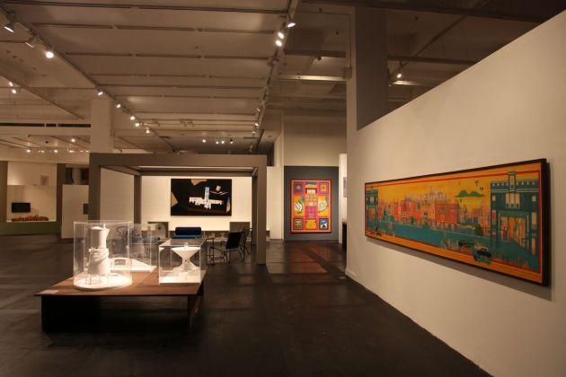 Bal Krishna Doshi. Exhibition view at NGMA National Gallery of Modern Art, Delhi 2014