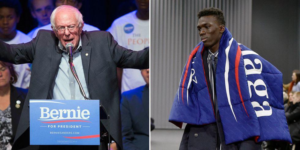Balenciaga si ispira a Bernie Sanders; ph. Pinterest by Esquire
