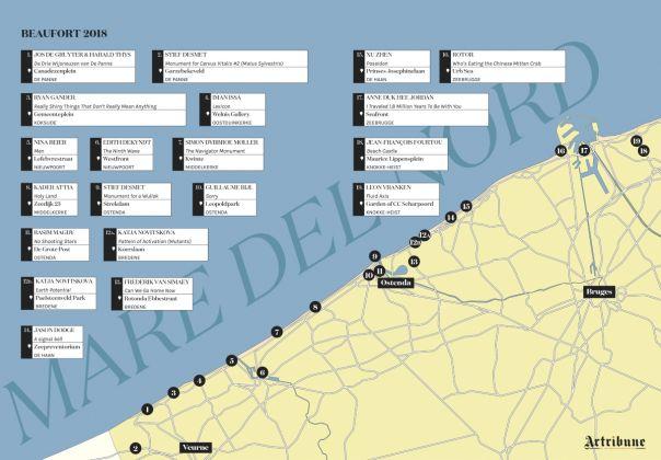Beaufort2018. La mappa delle installazioni (c) Artribune Magazine