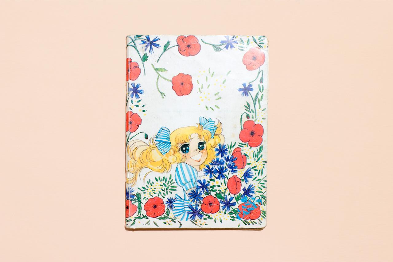 Candy Candy, quaderno di una bambina di prima elementare. Milano, 1983-84