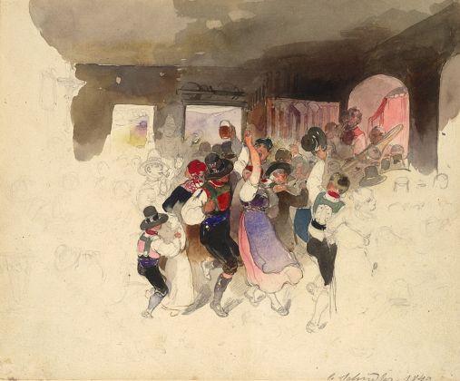 Carl Schindler, Il ballo, 1840. Albertina Museum, Vienna