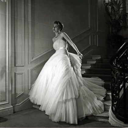 Christian Dior, Schumann Evening Dress, photographed by Willy Maywald, 1950