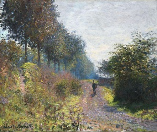 Claude Monet, Il sentiero riparato, 1873. Philadelphia Museum of Art, Donazione di Mr. and Mrs. Hughs Norment in onore di William H. Donner, 1972