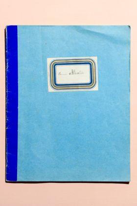 Copertina del saggio di calligrafia di una bambina delle elementari di Borgomanero (Novara), 1915
