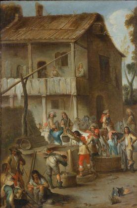 Cornelis De Wael, Soldati presso una taverna Genova, collezione privata