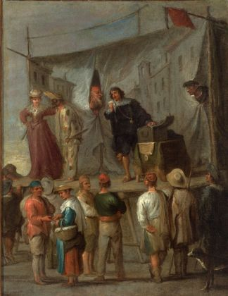 Cornelis De Wael, Spettacolo di comici Genova, collezione privata
