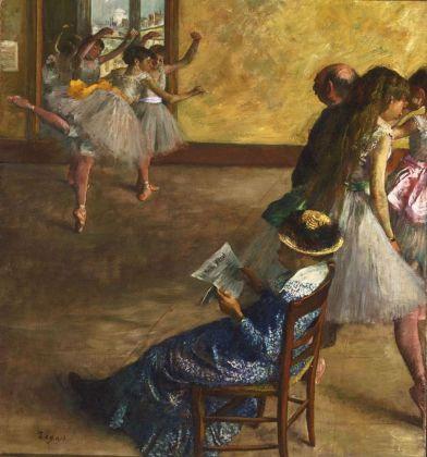 Edgar Degas, La classe di danza, 1880 ca. Philadelphia Museum of Art, Acquistato con il W. P. Wilstach Fund, 1937