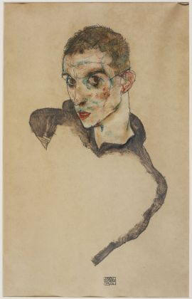 Egon Schiele, Self portrait, 1914, Watercolour and pencil on paper, Ömer Koç, Image courtesy Hadiye Cangökçe