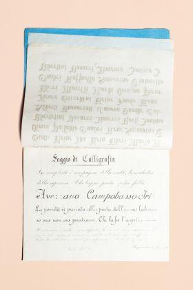 Estratto dal saggio di calligrafia di una una ragazza di Borgomanero Novara, 4 marzo 1915