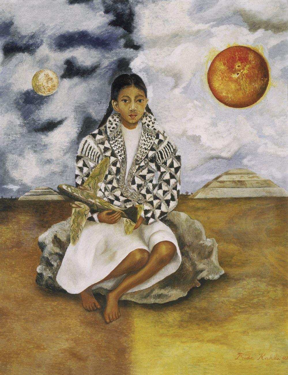 Frida Kahlo, Bimba tehuacana, Lucha María (Sole e luna), 1942. Collezione Juan Antonio Péréz Simon. Photo © Rafael Doniz. Credits © Banco de México Diego Rivera Frida Kahlo Museums Trust, México, D.F. by SIAE 2018