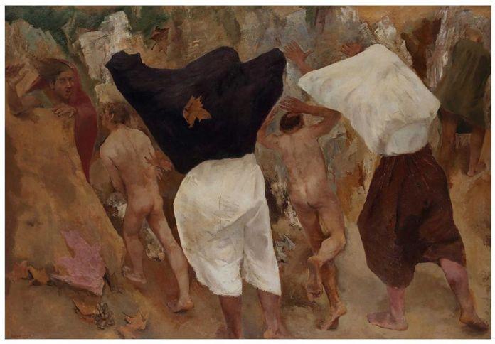 Fausto Pirandello, La tempesta, 1938). Courtesy Galleria Russo