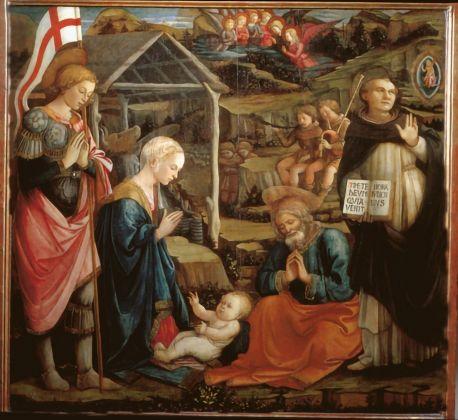 Filippo Lippi, Natività tra i santi Giorgio e Vincenzo Ferrer