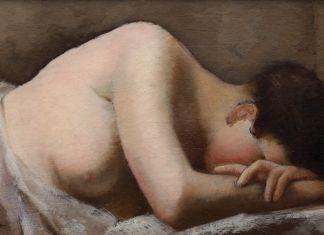 Francesco Trombadori, Fanciulla che dorme, 1926 ca, olio su cartone pressato