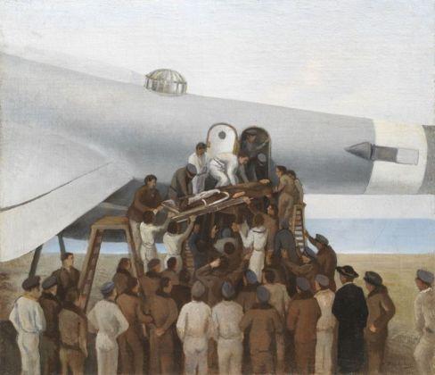 Francesco Trombadori, Lo sbarco del pilota ferito, 1941 42. Collezione Studio Trombadori, Villa Strohl Fern, Roma