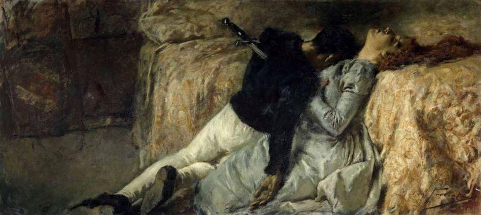 Gaetano Previati, Paolo e Francesca, 1887 Bergamo, Fondazione Accademia Carrara Bergamo, su concessione Fondazione Accademia Carrara