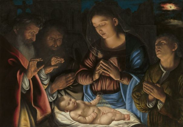 Giovan Girolamo Savoldo, Adorazione dei pastori, c. 1535-40, Washington, National Gallery of Art, Samuel H. Kress Collection, olio su tavola