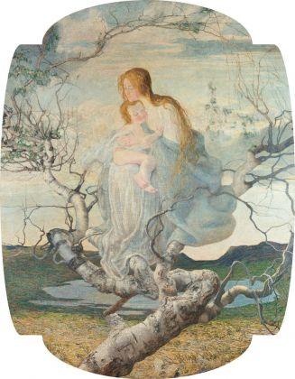Giovanni Segantini, L'angelo della vita, 1894. Milano, Galleria d'Arte Moderna
