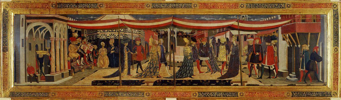 Giovanni di Ser Giovanni, detto Lo Scheggia, Cassone Adimari