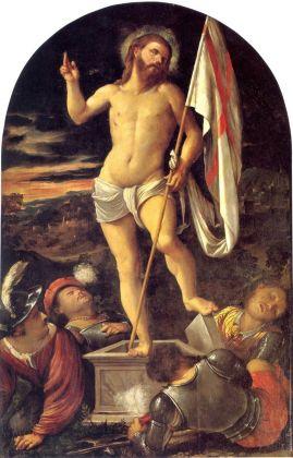 Girolamo Romanino, Resurrezione, c. 1526, Capriolo, Chiesa di San Giorgio, olio su tavola