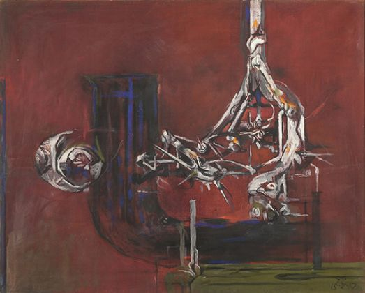 Graham Sutherland, Suspended form – Red ground, 1962, ©foto Marco Mioli..
