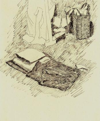 Guglielmo Janni, china su carta, interno dello studio