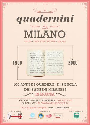 I Quadernini di Milano, la prima mostra di Quaderni Aperti
