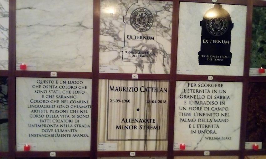 Maurizio Cattelan, Eternity