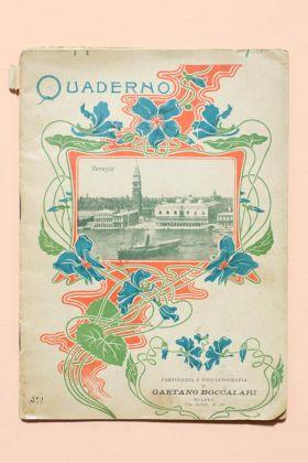 Il quaderno delle vacanze di una bambina di seconda elementare di Milano, 1900