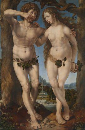 Jan Gossaert, Adamo ed Eva, 1520 ca. Hampton Court, Royal Collection