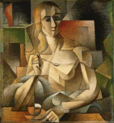 Jean Metzinger, L'ora del tè (Donna col cucchiaino), 1911. Philadelphia Museum of Art, Collezione Louise e Walter Arensberg, 1950