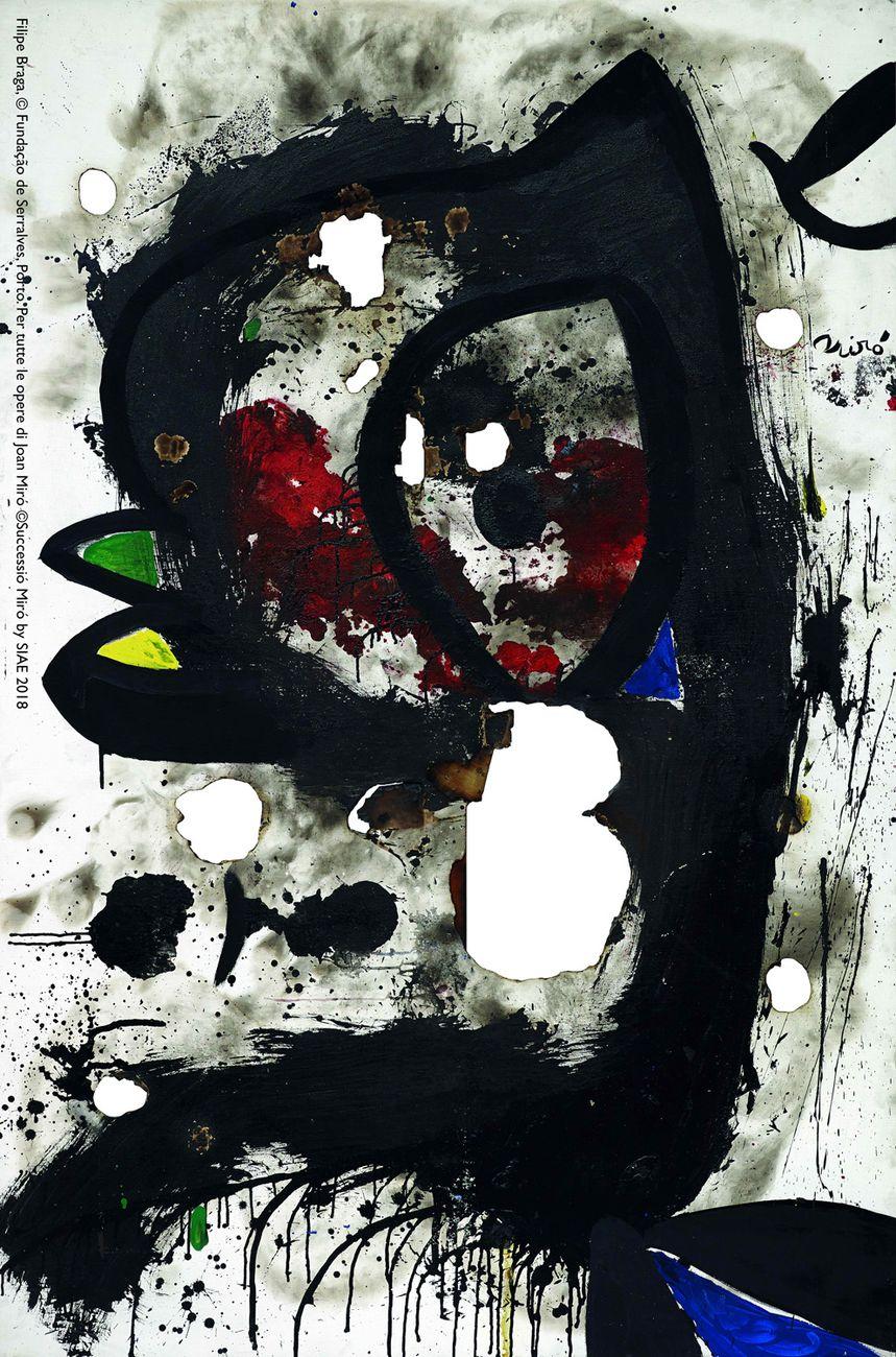 Joan Miró, Toile brûlée 3, 1973. Filipe Braga, © Fundação de Serralves, Porto. ©Successió Miró by SIAE 2018