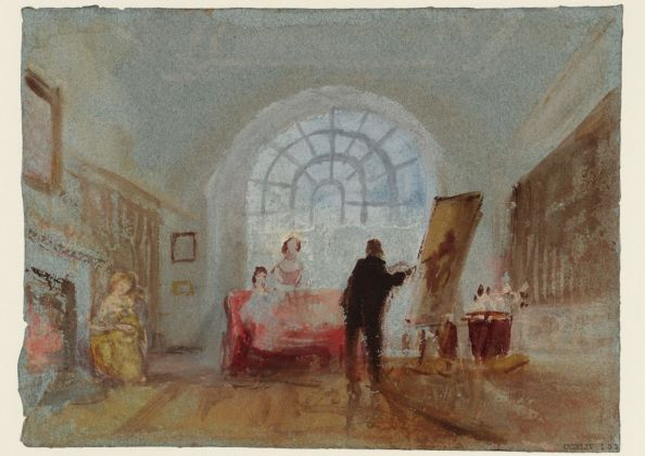 Joseph Mallord William Turner, The Artist and his Admirers, 1827. Tate