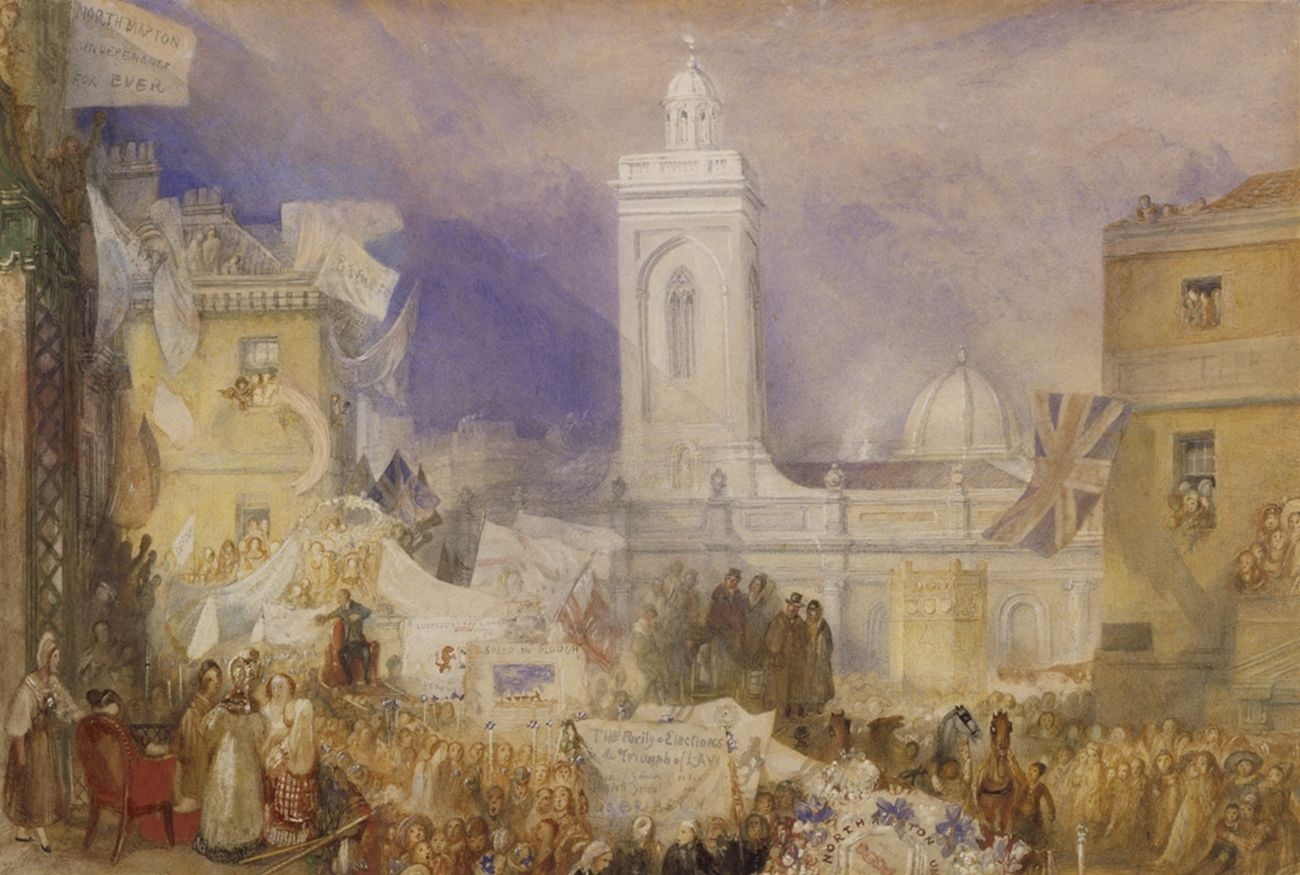 Joseph Mallord William Turner, The Northampton Election, 6 December 1830. Tate