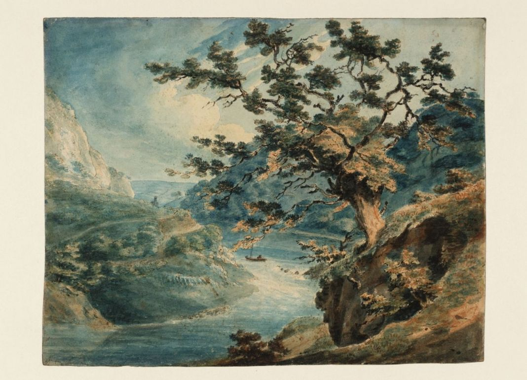 Joseph Mallord William Turner, View in the Avon Gorge, 1791. Tate