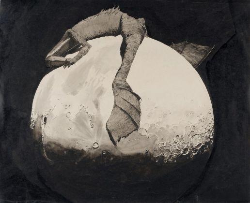 Klemens Brosch, Coccodrillo sulla luna, 1912 © Ladesgalerie, Linz