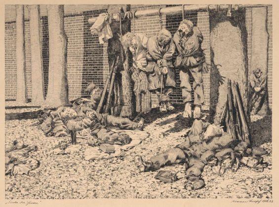 Klemens Brosch, La siesta dei condannati a morte, 1916 © NORDICO Stadtmuseum Linz