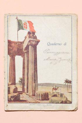La copertina colonialista del quaderno di geometria di una ragazza di seconda media della provincia di Bologna, anni '30-'40