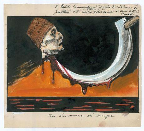 Mario Sironi, Il Partito Comunista italiano è in grado di risolvere i - problemi della nostra vita come è stato fatto in - Russia. - In un mare di sangue, 1924