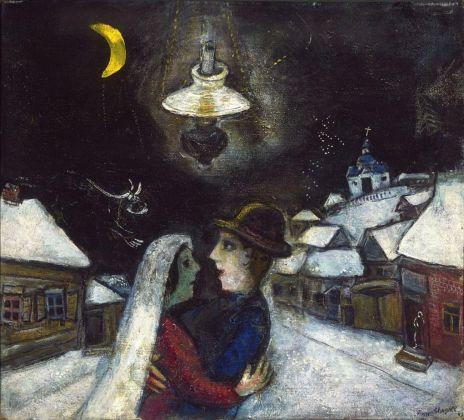 Marc Chagall, Nella notte, 1943. Philadelphia Museum of Art, Collezione Louis E. Stern, 1963