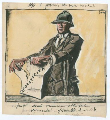 Mario Sironi, I combattenti e la celebrazione della marcia su Roma – Perché dovrei mancare all'adunata dei miei fratelli?, 1924